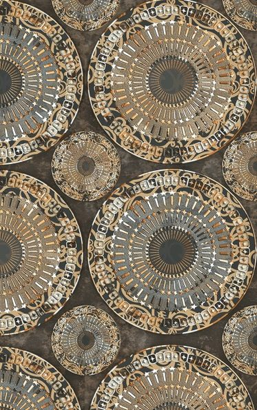 earth toned beaded fabric
