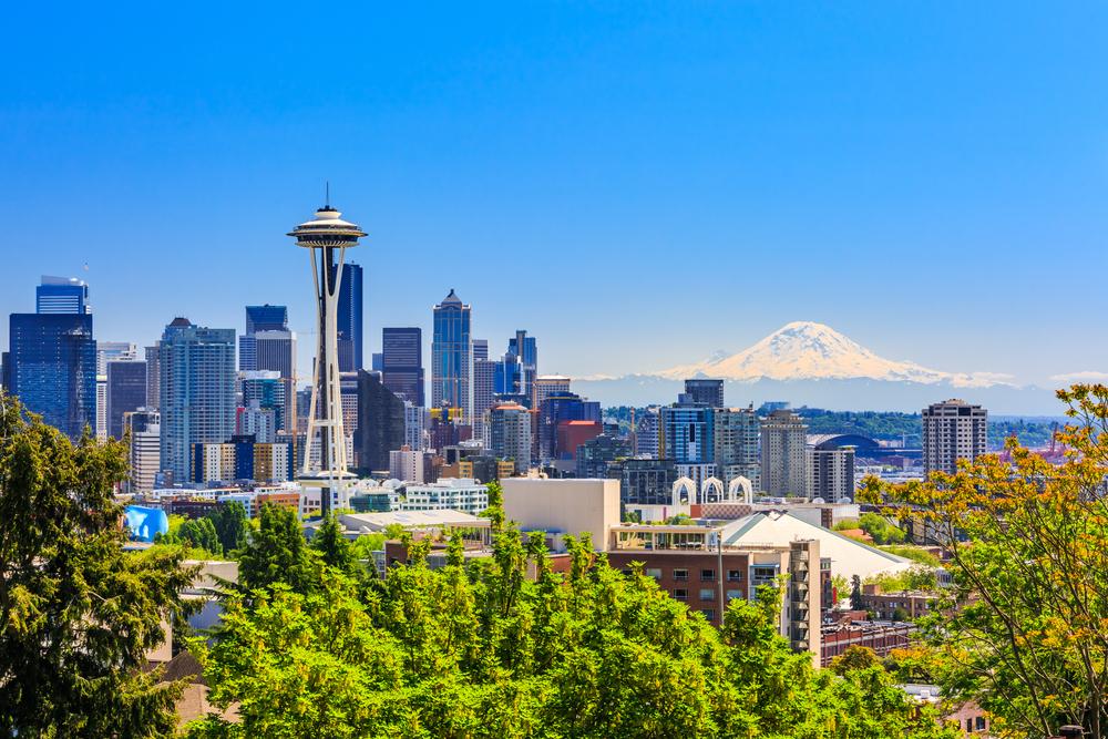 skyline of Seattle, Washington.