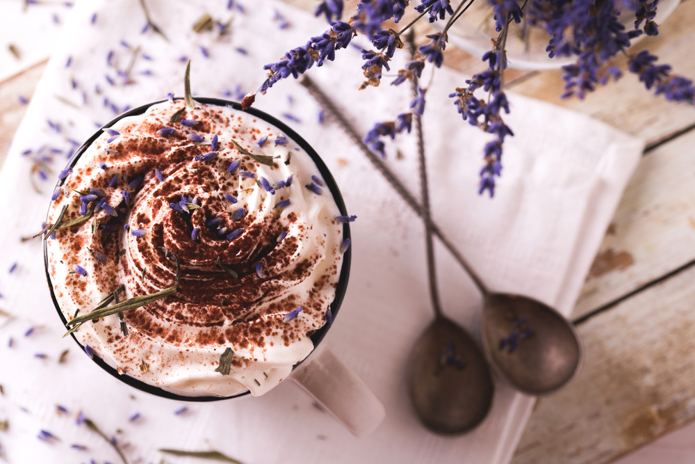 Hot Chocolate with lavender
