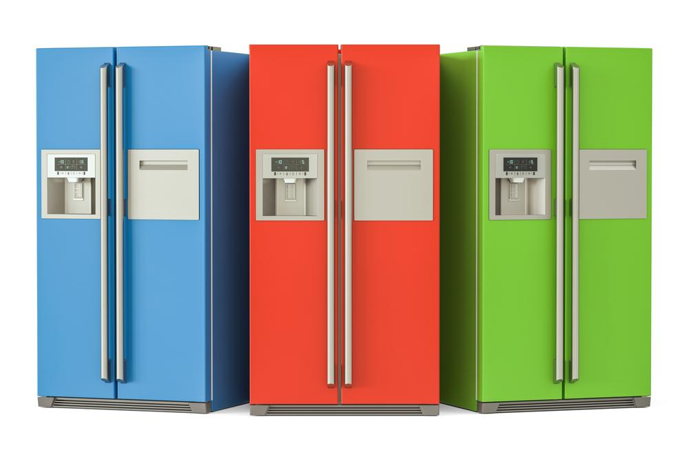 Multicolored refrigerators