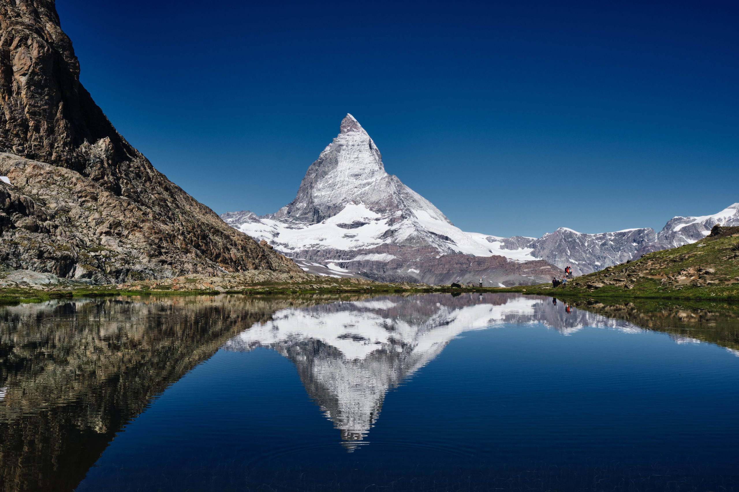 Matterhorn and reflection at Switzerland