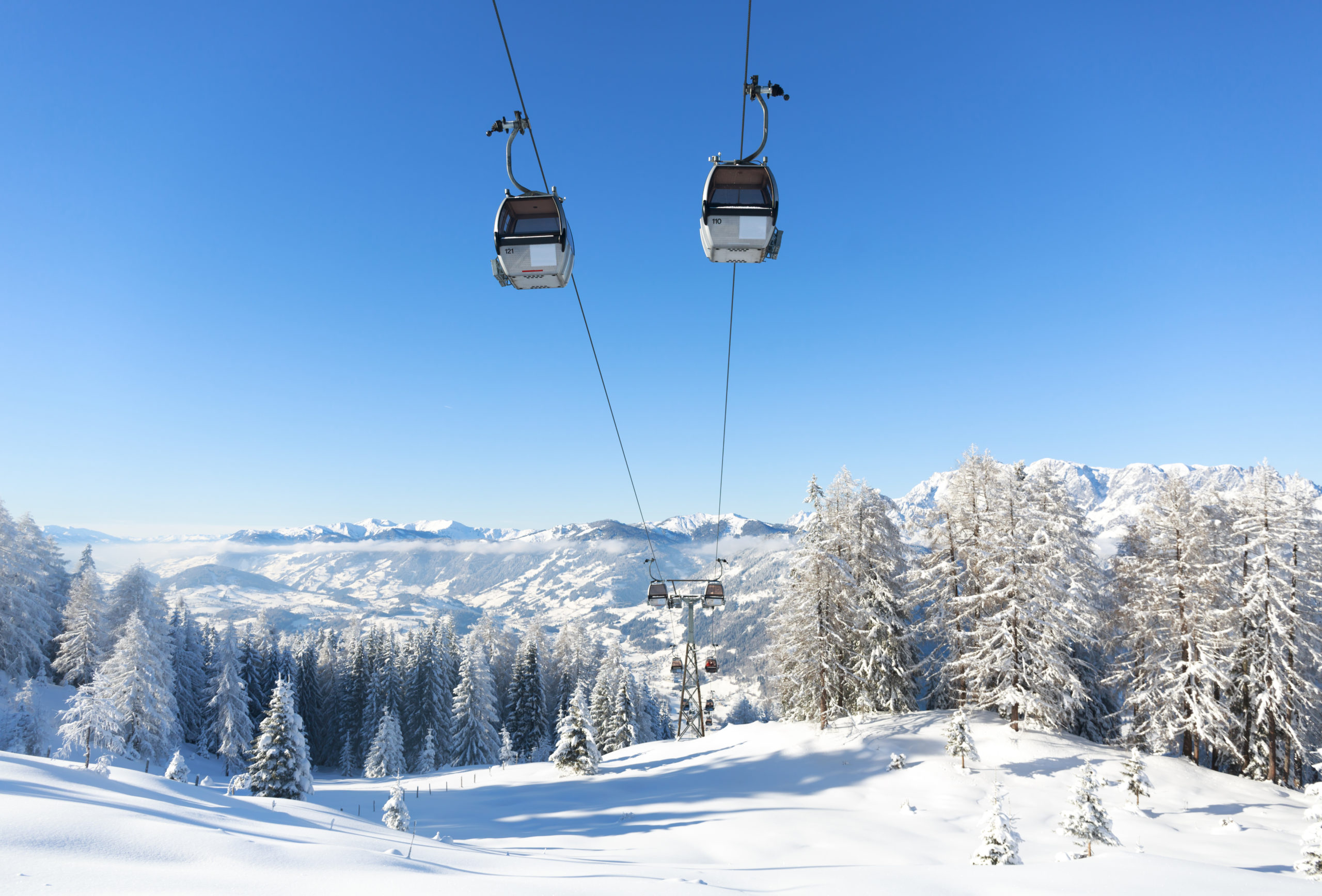 chair lift at ski resort in Austria